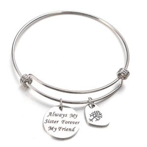 Jewelry - SALE💛 Message Charm Bangle - Always My Sister...